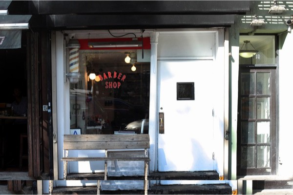 Blind Barber's unassuming entrance hides a cool speakeasy-slash-barber shop.