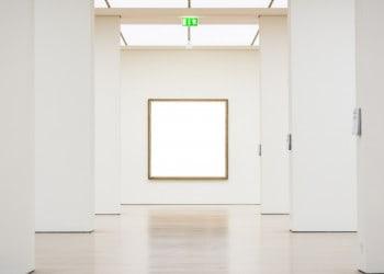 museum New York city empty frame gallery