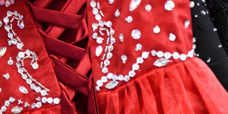 the dumplin movie red corset dress