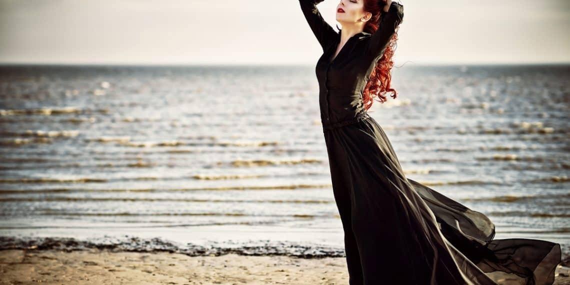 goth at the beach