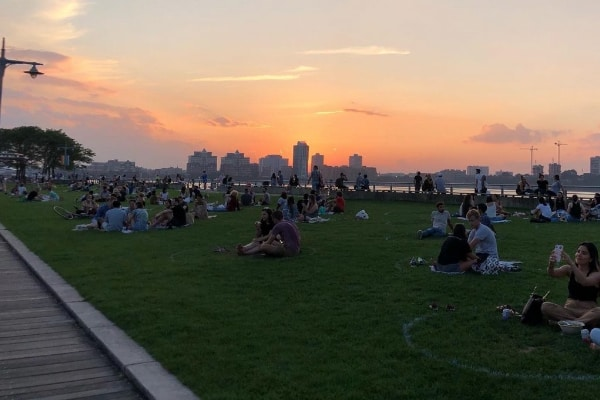 Hudson River Park at Sunset