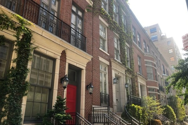 Bethune Street Townhouses in the West Village