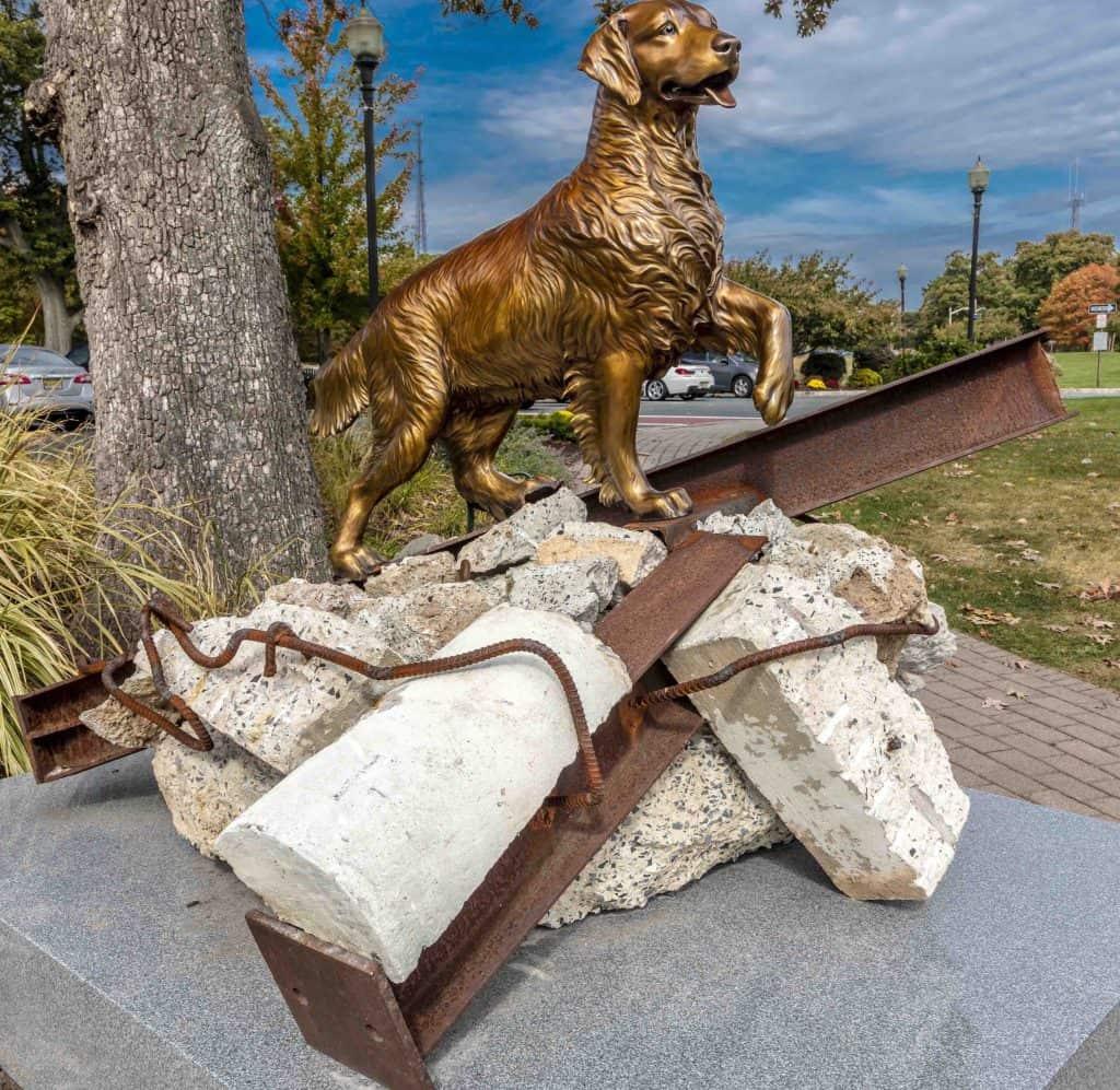 rescue dog statue