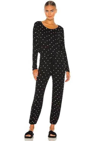 Plush Ultra Soft Heart Jersey Pajama Set