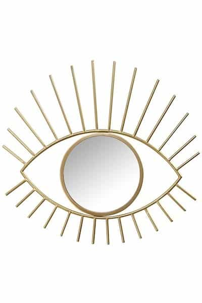 Stratton Home Gold Metal Eye Wall Mirror