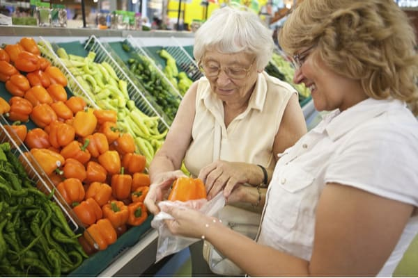 Helping seniors with grocery shopping