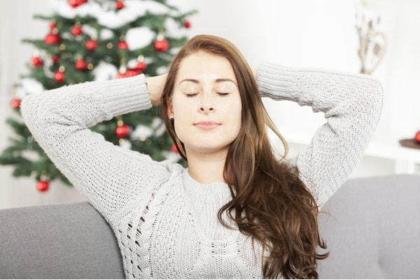 Relaxing and breathing during the holidays