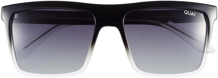 Ombre Black Square Sunglasses Quay Australia