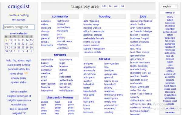 Craigslist Tampa gets huge traffic