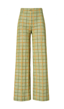 Tory Burch Plaid Pant Wardrobe NYC stretch-jersey crop top