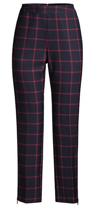 Sam Edelman Asymmetrical Zip Faux Leather Jacket Toccin Sky High Plaid Pants