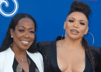 Tichina Arnold and Tisha Campbell attend the Soul Train Awards 2018